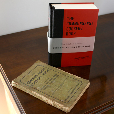 My copy and a 1914 edition of The Commonsense Cookery Book