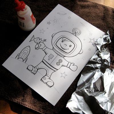 An astronaut work sheet making parenting easy.