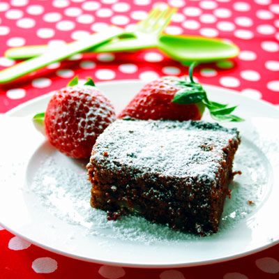 Chocolate & beetroot brownie