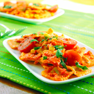 Roast capsicum ravioli