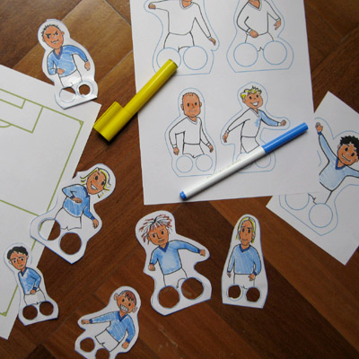 Soccer craft sheet for father's day