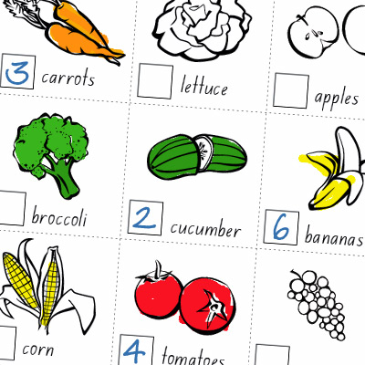 vegie smugglers healthy eating worksheet