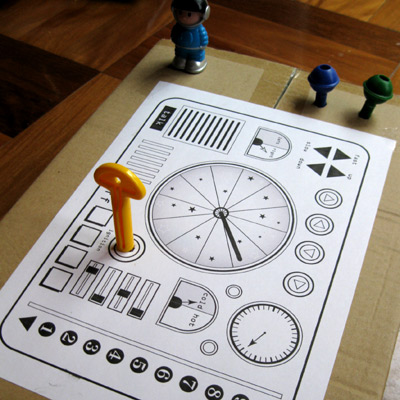 spaceship dashboard craftsheet for kids