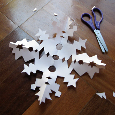 a pattern for a paper snowflake to make with your kids