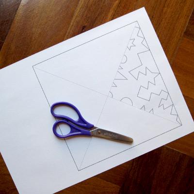 paper snowflake to snip
