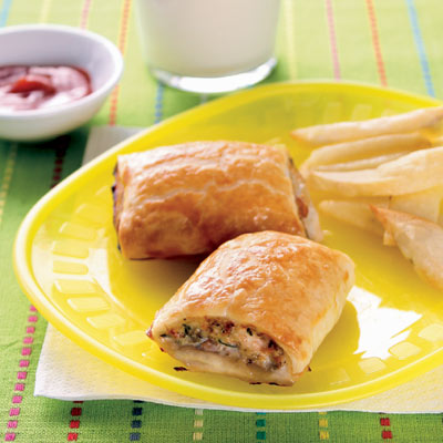 This is my most searched for recipe - chicken sausage rolls!