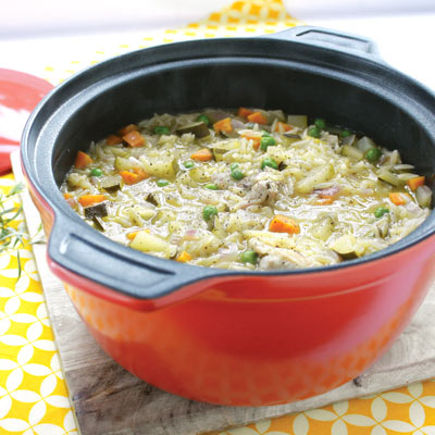 chicken and tarragon one pot winter warmer by vegie smuggers