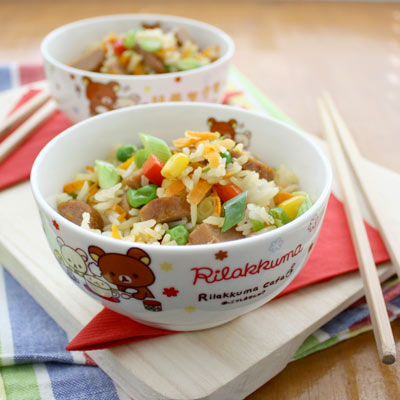 sausage fried rice from vegie smugglers