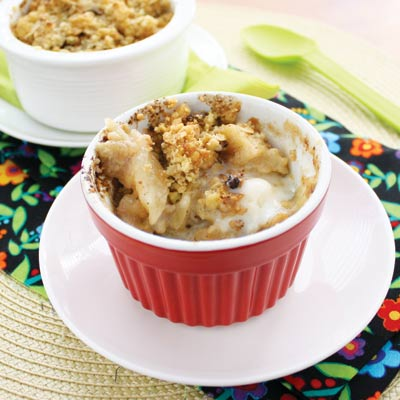 Apple and pear's make this crumble totally healthy, right?