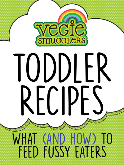 Advice on how to get your toddler eating a wide variety of vegetables with 26 clever recipes that smuggle the healthy ingredients in.