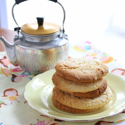 Just five ingredients between you and a biscuit. I'll go pop the kettle on...