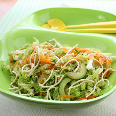 Classic noodle & cabbage salad - a summer staple.