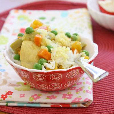 Parents can add chilli & coriander.