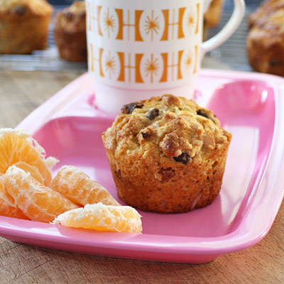 vegie smugglers choc chip almond and banana muffin