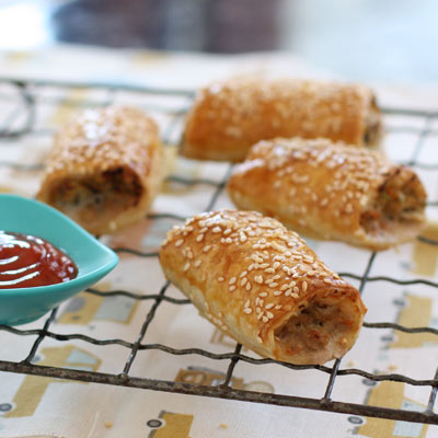 vegie smugglers pork fennel apple sausage rolls