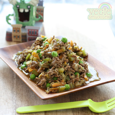Beef savoury mince. Good alone, with rice on on baked potatoes.