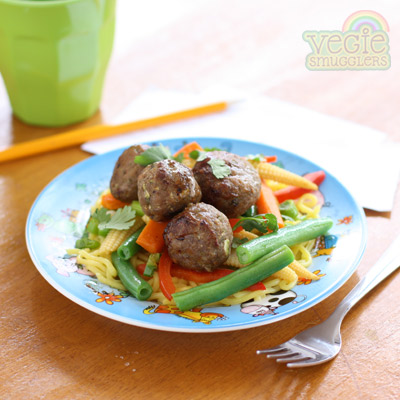 vegie smugglers plum sauce chinese-style meatballs