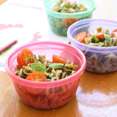 Vegie Smugglers pesto pasta salad