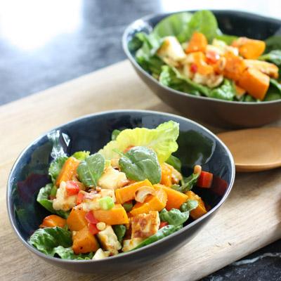 Pumpkin & haloumi salad.