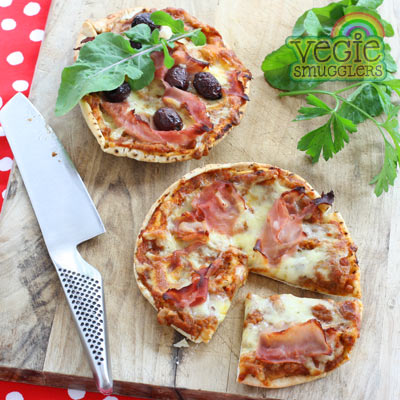 Make mini pizza & customise toppings to suit.