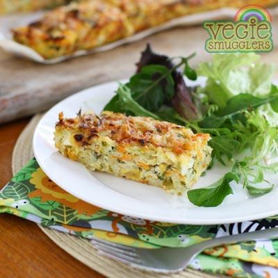 Zucchini slice (vegetarian & gluten free)