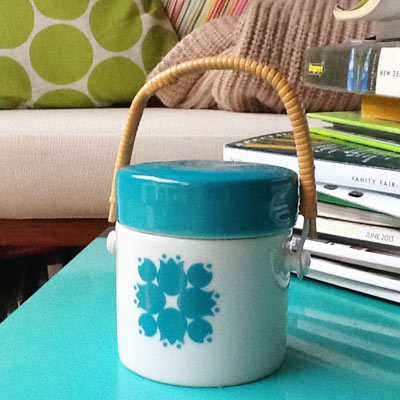 Using my new sugar bowl is on the list too - makes me smile, every time.
