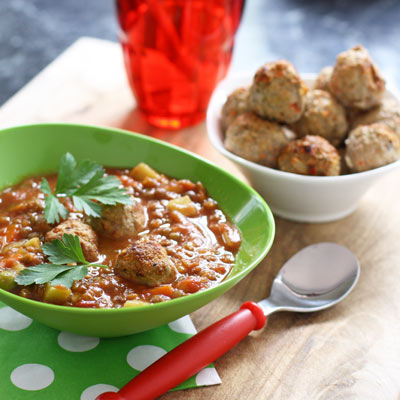 Hidden veg meatballs in an ALL VEG soup. Genius. And delicious.