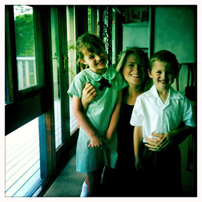 I avoid self-promotion, but in the interest of 'getting to know you', here's a pic of me and the kids....