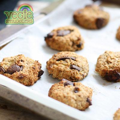 Gluten free, egg free banana cookies
