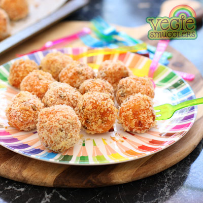 Sweet potato & lentil balls - nice option for vegetarians.