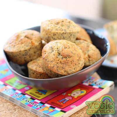 Orange mega-seed muffins