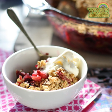 Just quietly - this apple & berry crumble is a bit yummier than the one my granny used to make!