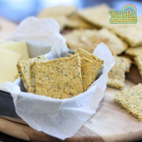 Seed crackers - nut free, so perfect for lunchboxes, too.