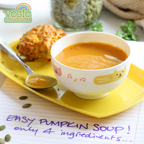 Easy pumpkin soup (only 4 ingredients)