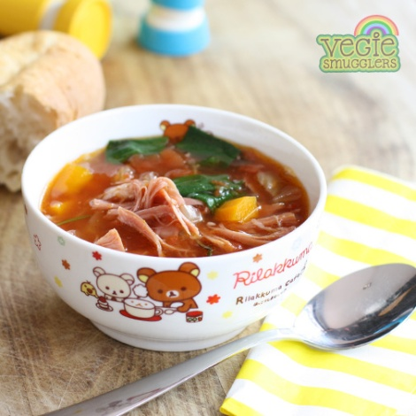 This is my new favourite slow-cooker soup - you'll find the recipe in my new e-book!