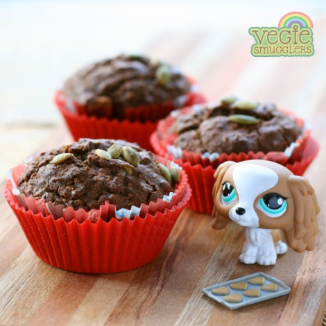 chocolate seed muffins lunchbox