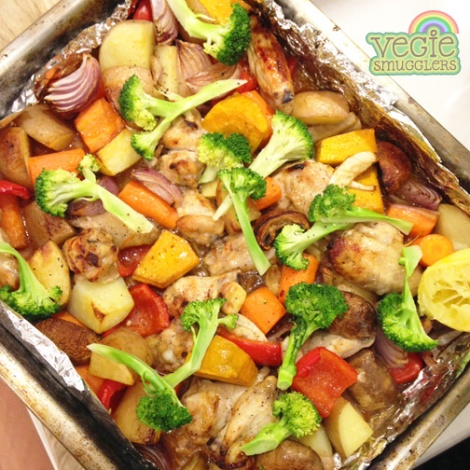 Vegie Smugglers Chinese Chicken tray bake