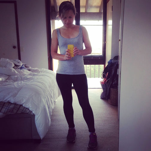 Urgh! I know! An exercise selfie....